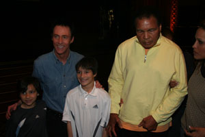Lance Burton with Muhammad Ali and family