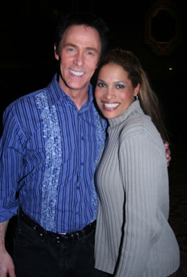 Lance Burton with Radesha Ali