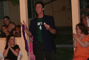 Lance Burton hosts ice cream social, performs magic