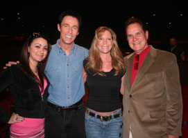 Lance Burton with Rich Little and family